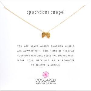 """""""Guardian Angel """" Gold Dipped Charm Necklace"""